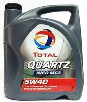 Масло моторное синтетическое QUARTZ INEO MC3 5W-40, 5л